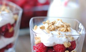 Honey Raspberry Parfait