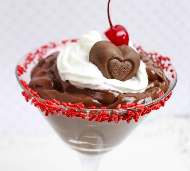 Raspberry Chocolate Pudding Dessert Martini