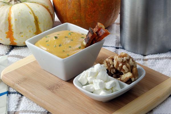 Roasted Sweet Potato Soup Foam