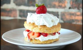 Strawberry Honey Napoleon with Cardamom Whipped Cream