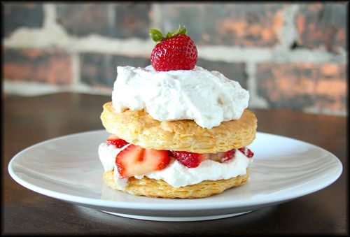 Strawberry Honey Napoleon with Cardamom Whipped Cream