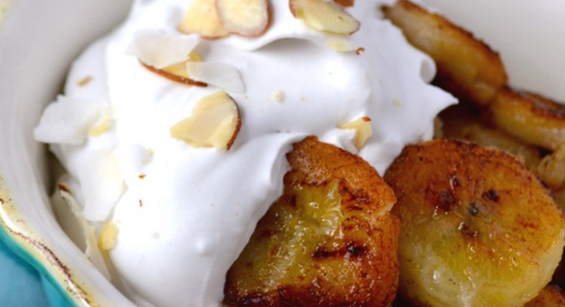 Pan-Fried Bananas with Whipped Cream