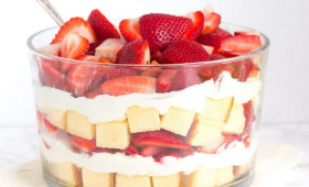 Layered Strawberry Trifle