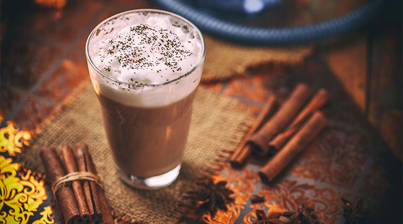 Chai latte cupcake crème