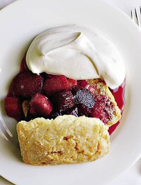 Rhubarb Shortcakes with Whipped Cream
