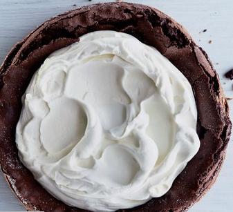 Chocolate Cake with Mascarpone Whipped Cream