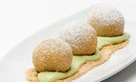 Mozart Dumplings with Pistachio Cream