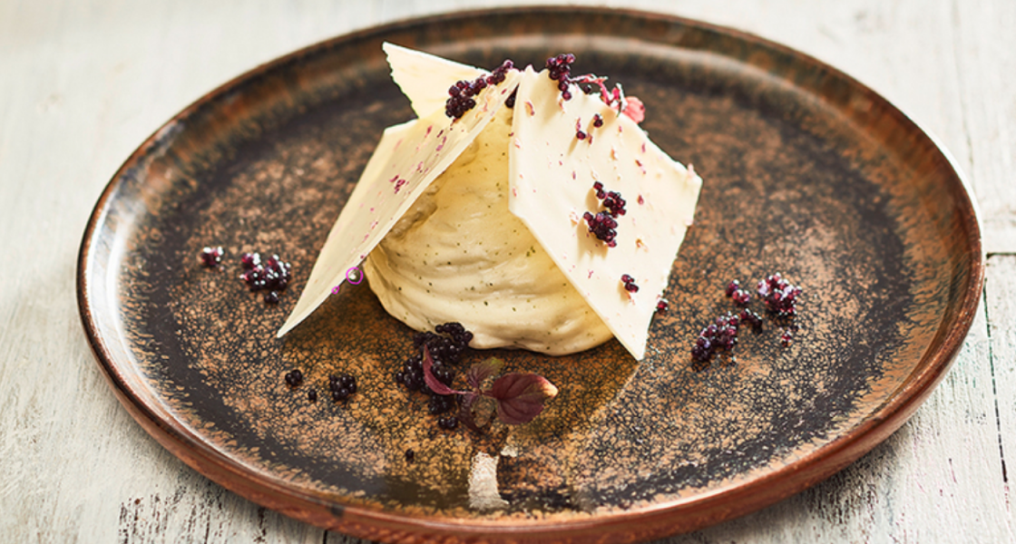 Shiso lime mousse