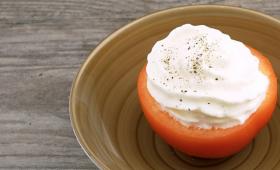 White Tomato Espuma Soup