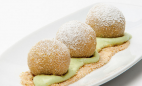 Mozart Dumpling with Pistachio Crème
