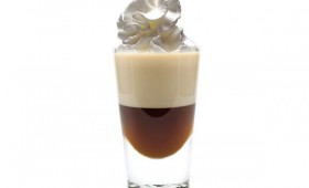 Kahlua-Baileys Shot with Vanilla Whipped Cream