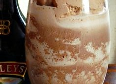 Frozen Bailey's Irish Cream Hot Chocolate with Chocolate Whipped Cream