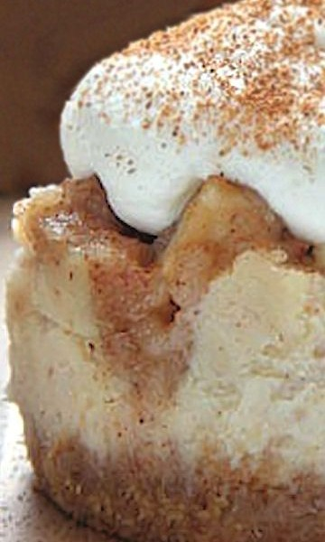 Mini Apple Pie Cheesecakes with Brown Sugar Whipped Cream