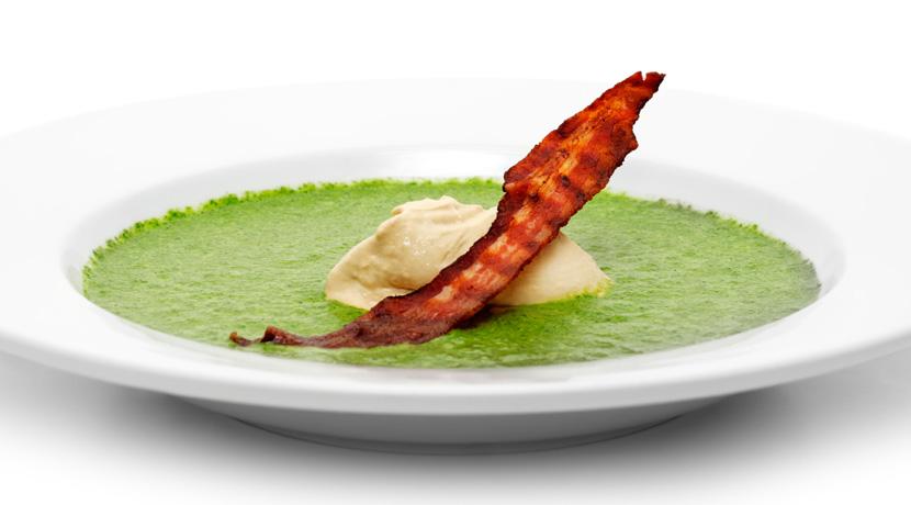 Spinach Espuma Soup