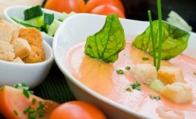 White Tomato Foam Soup