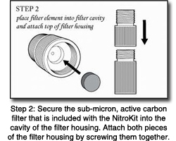 Nitrokit filter system instructions step 2