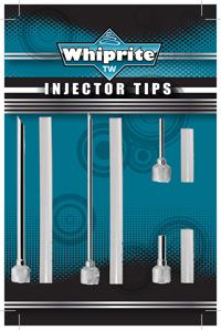 WhipRite stainless steel injector tips