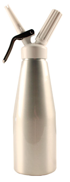 TW 1 Quart White Metal Head Cream Dispenser by Mosa
