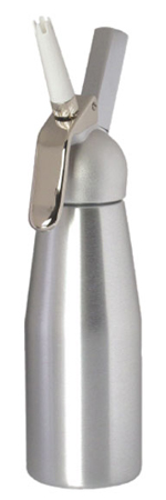 Mosa Full Quart Whip Cream Dispenser - Brush Aluminum
