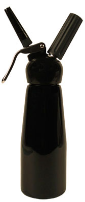 TW Black 1 Pint Whipped Cream Dispenser by Mosa