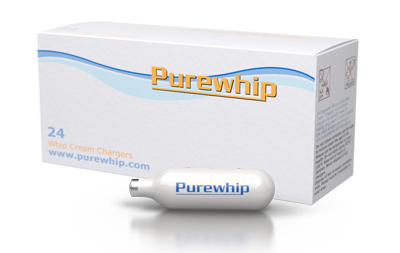Purewhip Nitrous Oxide Whip Cream Chargers - 10 Boxes of 24