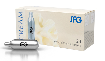 SFG Nitrous Oxide Whip Cream Chargers - Box of 24