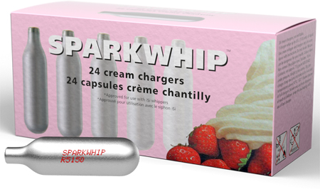 Sparkwhip by iSi Whipped Cream Chargers-Box of 24
