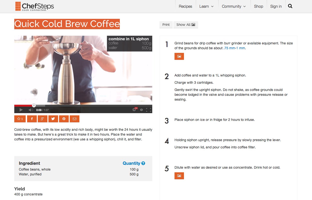 Quick Cold Brew Coffee