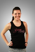 Sexxy Whip Ladies Tank Top - Black
